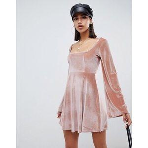 NWT ASOS Velvet Skater Dress